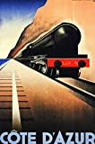 Bingyingne Francia Vintage Pullman Train Home Metal Cartel de Chapa Arte Decoración de Vacaciones Señal de Interior al Aire Libre Estación de Tren Decoración de Pared Cartel de Chapa 8x12 Pulgadas