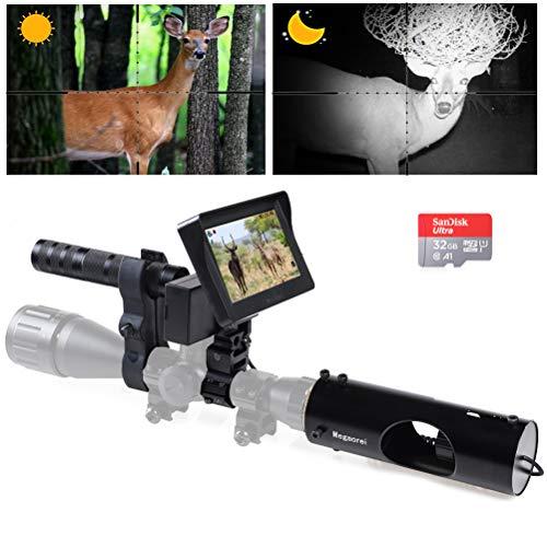 Megaorei 【2020 Upgrade】 Digital Night Vision Scope Video Camera for Riflescopes Hunting IR...