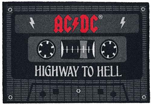 AC/DC Tape Unisex Fußmatte Multicolour, 100% Polyamid, 60 x 40 cm Band-Merch, Bands