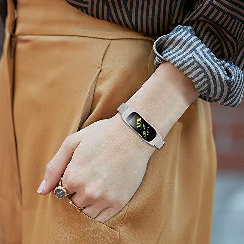 Classicase Correa de Reloj Vintage de Cuero Genuino Compatible con Galaxy Fit-e SM-R375, Ideal para Hombres (Pattern 6)