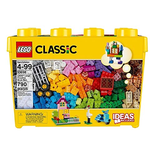 UKB LEGO Classic Large Creative Brick Box 10698 Build Your Own Creative Toys, Kids Building Kit (790 Pieces)