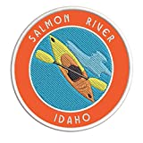Salmon River, Idaho Kayak Embroidered Premium Patch DIY Iron-on or Sew-on Decorative Badge Emblem Vacation Souvenir Travel Gear Clothes Appliques