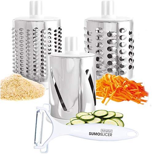 Mediashop Livington Sumo Slicer | 3 in 1 Trommelreibe – zum Raspeln, Schneiden, Reiben | Fixierfunktion | Multiraffel | Reibemaschine | Gemüseheobel |Mühle | Gemüseschneider | Das Original aus dem TV - 7