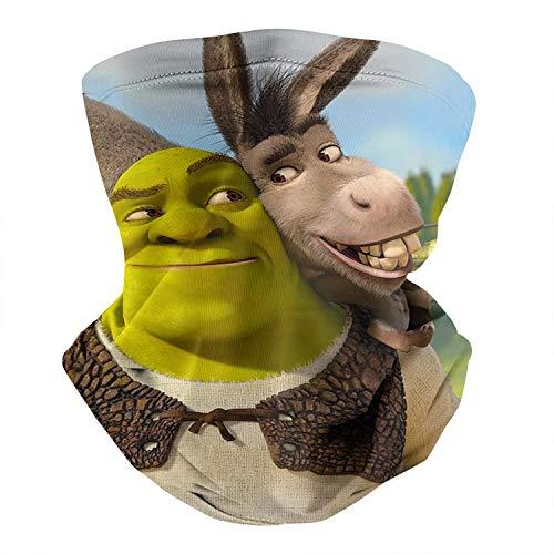 Cute Winter Unisex Balaclava Bandana Face Mask Shrek-Donkey-Smile-Game- Magic Neck Gaiter Scarf