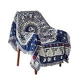 PokYr25eb Decke, Vintage-Überwurf, Couch Sofa, Lounge-Sessel, Schonbezug, zum Aufhängen, robust, waschbar, weich, bequem, vielseitig verwendbar, weiß, 130 * 180cm