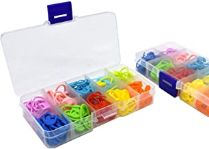 240 Pieces 10 Colors Markers Knitting Stitch Locking Stitch Needle Clip Crochet Locking Stitch with Storage Box
