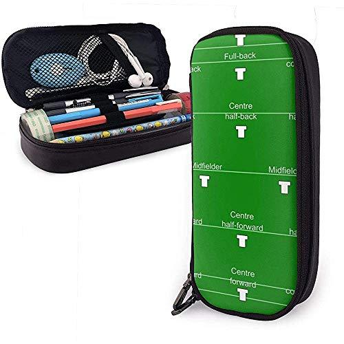 Federmäppchen Fußball Station Karte PU Ledertasche Aufbewahrungstaschen Tragbare Bleistift Tasche Reißverschluss Geldbörsen