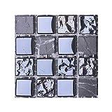 MaHaiShand 10Pcs/Set Hazlo tú Mismo. Accesorios de Cocina Calcomanías de Marsella Artículos de baño Parche de Pared Calcomanías de Porcelana 3D Enseres(15)