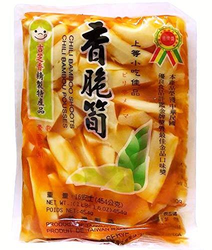 (3 Packs) 香脆筍 Preserved Crispy Chili Bamboo Shoot, Crunchy, 16 oz/454 g
