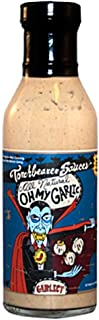 Torchbearer Sauces Oh My Garlic Sauce, 12 Ounces - All Natural, Vegan, Extract-Free, Made in USA