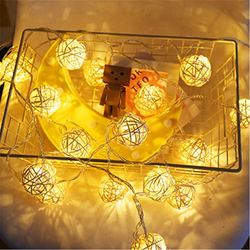 DerDer Fairy lights, battery-powered spherical lights for indoor/party/Christmas/wedding