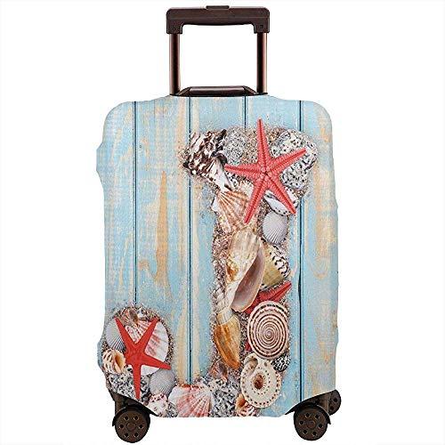 Reisegepäck-Abdeckung Sommerurlaub am tropischen Strand J Rustikale alte Holzplanken Koffer Beschützer Größe L