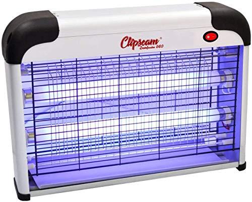 CLIPSEAM Lámpara Mata Insectos Electrico Mata Moscas Mejor Solución contra Mosquitos, Polillas, Zancudos, Moscas, y mas Insectos. (20 Watt)