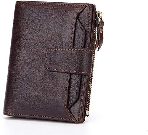 Monedero, bolso de embrague, monedero de cartas, carteras de tarjetas de crédito, protector de tarjetas Modelos de manga de la cartera corta de cuero Posición Multipar con cuero Multipaterial desmonta