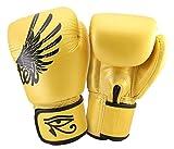 Fairtex Muay Thai - Guantes de boxeo para Kick Boxing Falcon Gold BGV1, talla 8, 10, 12, 14, 16, 18 onzas