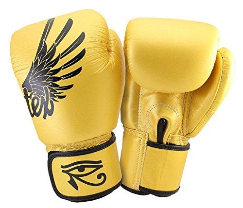 Fairtex Muay Thai - Guantes de boxeo para Kick Boxing Falcon Gold...