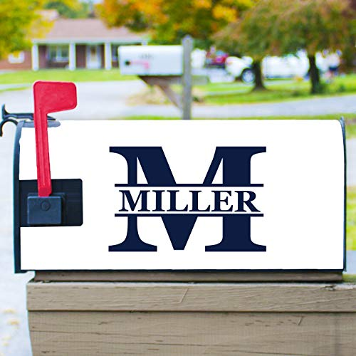 Custom Magnetic Mailbox Cover Personalized with Monogram and Name