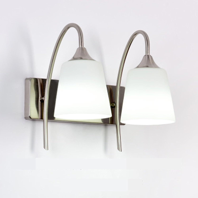 Yhz@ LED moderne minimalistische Mode LED Wand Lampe Spiegel Lampe Schlafzimmer Studie Lampe Nachttischlampen Objektiv Ganglichter Wandlampe (gre   B)