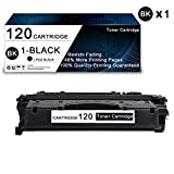 1 Pack Black 120 Compatible Toner Cartridge Replacement for Canon ImageClass D1100 Series D1300 Series D1500 Series D1100 D1120 D1150 D1170 D1180 D1320 D1350 D1370 D1520 Printers Toner Cartridge.
