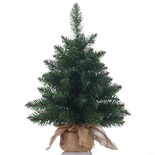 Topro - Árbol de Navidad, árbol de pino artificial en miniatura, ideal para mesa o escritorio