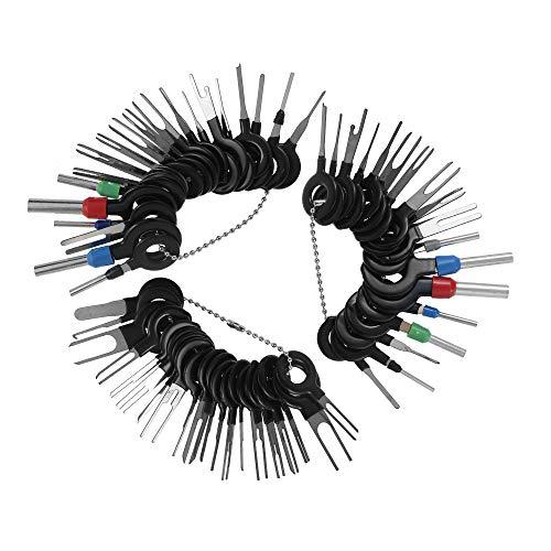ATopoler 59pcs Herramientas de Eliminación de Terminales Kit de Extractor de Pin de Conector Herramienta de reparación y desmontaje de Cables para automóviles