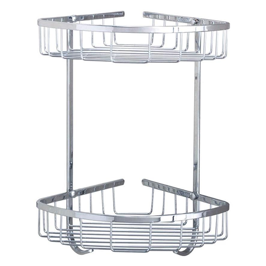 ペルーヘッドレスつまらないHF-ZEN タオル掛け 浴室のシャワーキャディダブル層304ステンレス鋼の浴室のトライアングルシェルフ、壁掛けシャワールームコーナーフレームホームデコレーション 風呂 タオル掛け