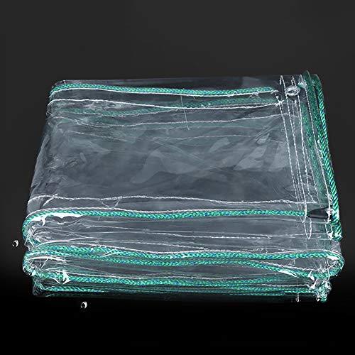LYZP Verdicken Sie transparenten Wasserdichten regendichten Tuch-Balkonsonnenschutz-regendichten Vorhang PVC-Plastikstoff 500g / ㎡ (größe : 1.8×4.5m)