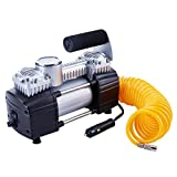 TIREWELL 12V Tire Inflator-Heavy Duty Double Cylinders...