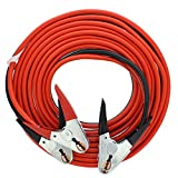 ABN Jumper Cables, 25ft Long, 2-Gauge, 600 AMP – Commercial Automotive Vehicle Booster Cables – Motorcycle Car ATV