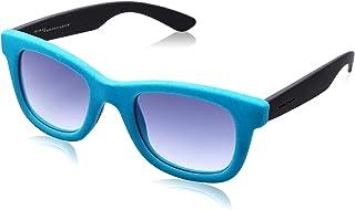 نظارة شمس لونين بعدسات شبه مربعة ازرق متدرج وشنبر قطيفة للنساء من ايطاليا انديبندنت - تركواز