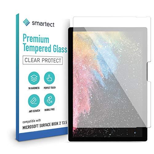 smartect Schutzglas kompatibel mit Microsoft Surface Book 2 13.5 Zoll - Tempered Glass mit 9H Festigkeit - Blasenfreie Schutzfolie - Anti-Kratzer Bildschirmschutzfolie