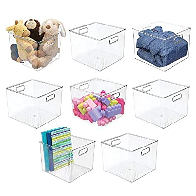 mDesign Storage Organizer Bin with Handles for Cube Furniture