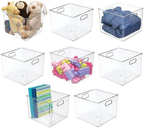 mDesign Plastic Home Storage Organizer Bin for Cube Furniture Shelving in Office Entryway Closet product image