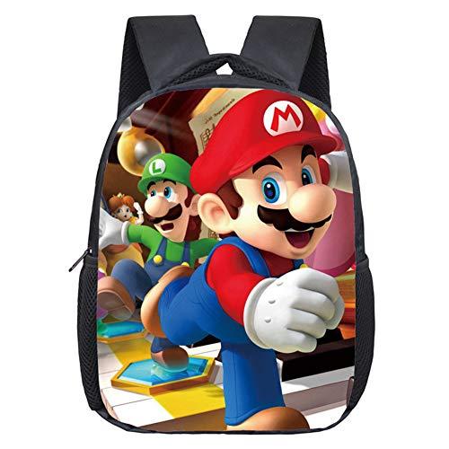 Mario Bros Zaini per bambini Cartoon Mario Bros Zaino Mario Bros Borsa Casual Zaino per ragazzi a tema personaggio Mario Bros per Elementare E Media Ragazze Ragazzi Viaggio Escursioni Scuola