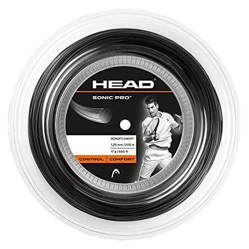 HEAD Unisex-Erwachsene Sonic Pro Rolle Tennis-Saite, Schwarz, 16