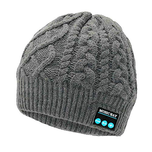Upgraded Wireless Bluetooth Beanie Hat with Headphones V4.2, Unique Christmas Tech Gifts...