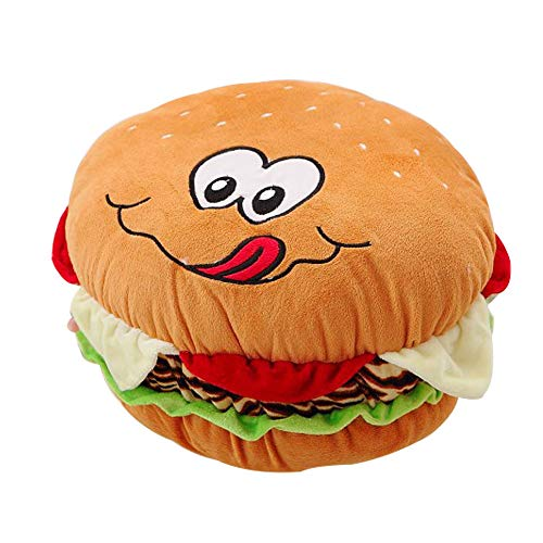 Mystery&Melody Felpa Hamburguesa con Queso Almohada Mullida Hamburguesa Rellena Almohada Suave Hamburguesa Comida Peluche Juguete (Yellow, 50CM)
