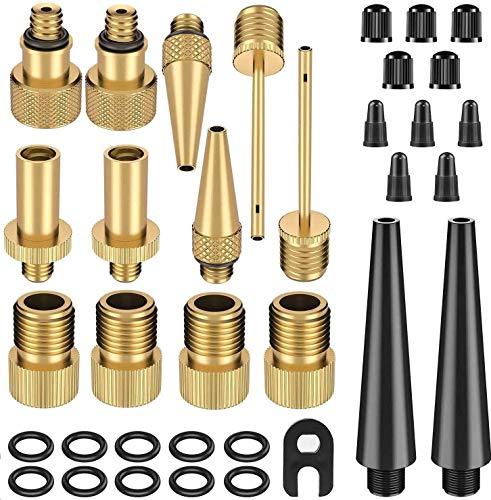 Ventil,Ventil Adapter, Fahrradventil 35 Stück, Fahrradventil Adapter - AV BV DV SV