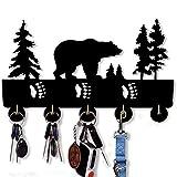 Wild Animal Household Wall Wooden Hooks Indoor Use Key Holder | Bedroom Kitchen Office Heavy Duty Hanger | Handmade Home Decor Wooden Home Storage Hooks (Bear)…