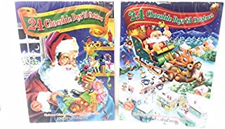 Chocolate Advent Calendar - 24 Chocolate Days til Christmas, Santa Theme - 2 Pack (May contain traces of nuts)