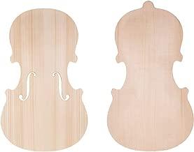 Handcraft Unfinished Fiddle Violin Spruce Front Panel Topboard & Maple Backplate Backboard Solid Wood for 4/4 Violins