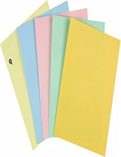 Staples Pastels Colored Copy Paper, Assorted, 11 x 17 inch Ledger Size, 20lb Density, 30% Recycled, Acid-Free, Pink Green Gold Blue Canary Yellow, 250 Total Sheets (73150)