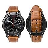 iBazal 22mm Armband Leder Uhrenarmband Armbänder Ersatz für Samsung Galaxy 46mm,Gear S3 Frontier/S3 Classic SM-R760/770,Huawei Watch GT/Honor Magic/2 Classic,Ticwatch Pro,Moto 360 2nd Gen 46 - Braun