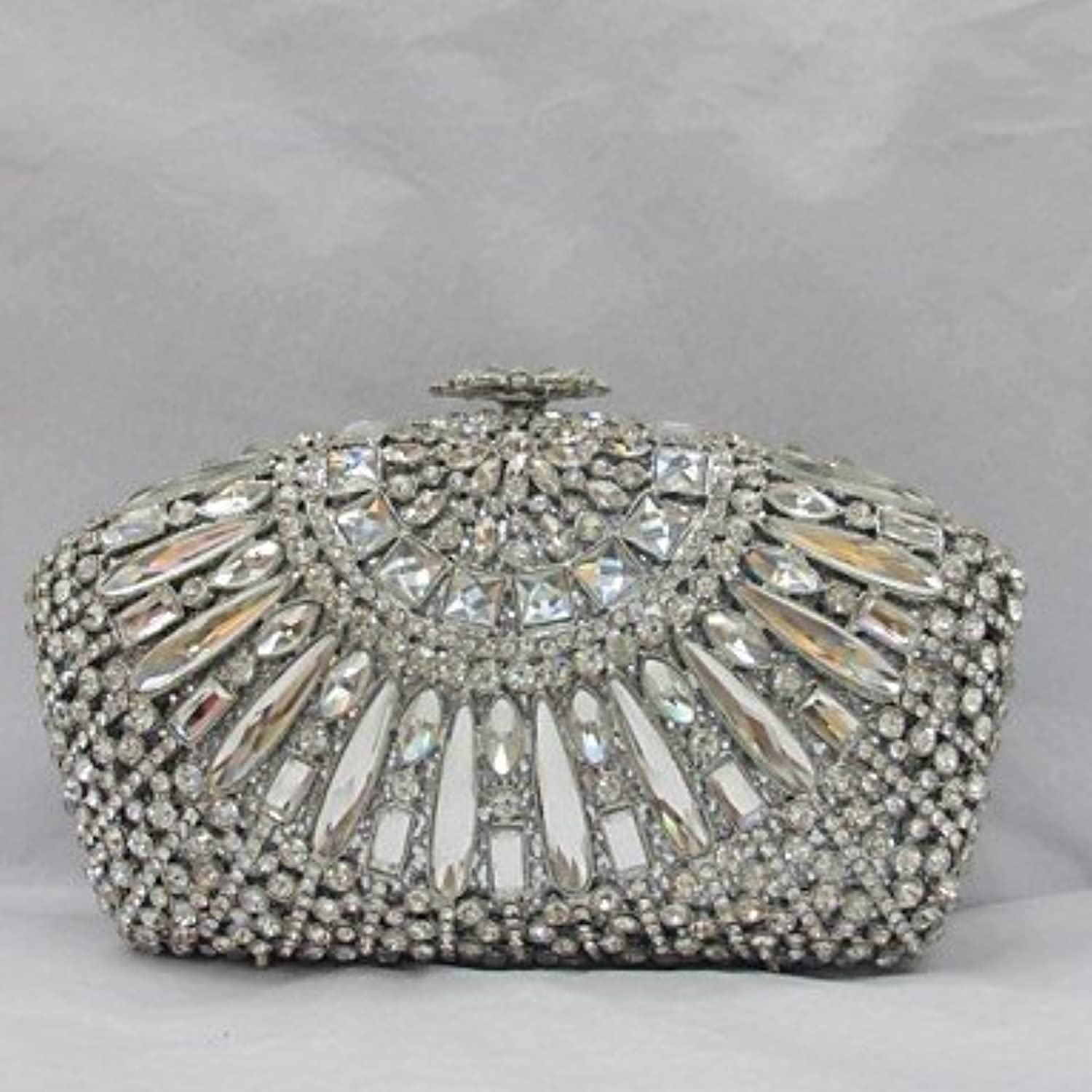 W&P Women PU Event Party Evening Bag Silver
