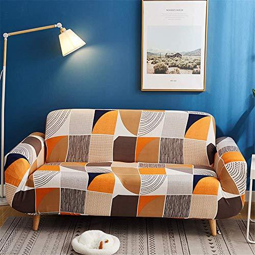 GAOZHEN Funda de sofá de Estilo Europeo de poliéster, Funda de sofá elástica Antideslizante con Estampado Todo Incluido, Funda de sofá de 1 2 3 4 Asiento