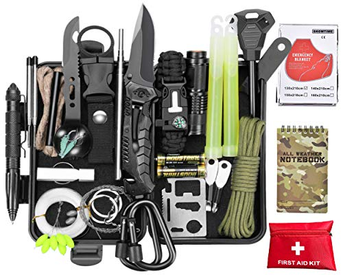 SCRIBY Survival Kit 73 in 1 - Emergency Survival Gear and Equipment First Aid Kit SOS EDC Survival...
