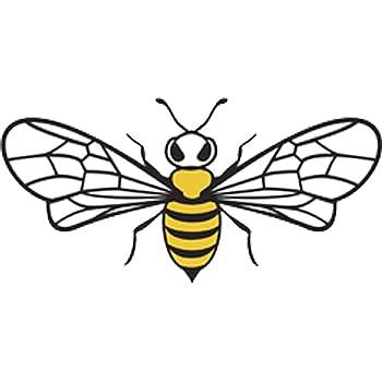 Pretty Assortment of Bumble Bees Cartoon Art Vinyl Decal Sticker 4 Wide, Bee #3