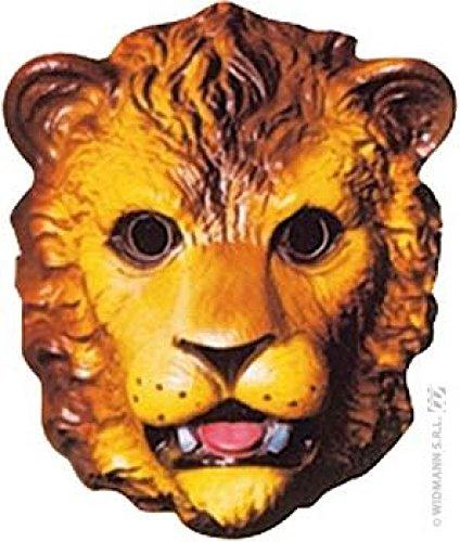 Mondial-fete - 4 Masques lion enfant PVC 3D - 25 x 18 cm