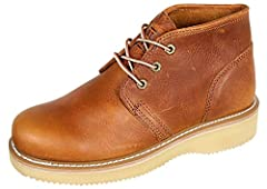 """5"""" Oil Full Grain Tumbled Leather Lightweight wedge sole Texon Midsole with Steel Shank COMFORTTUF Removable Footbed Oil resistant rubber sole"""