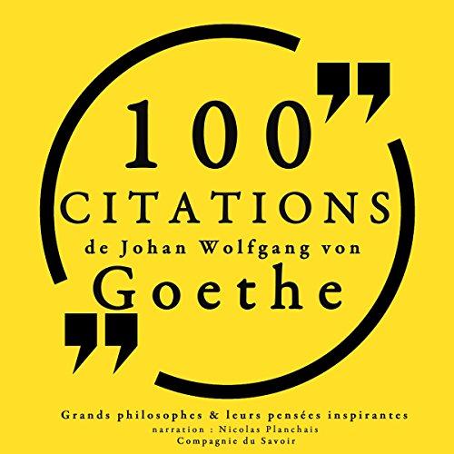 Couverture de 100 citations de Goethe